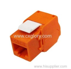 Cat.6 or CAT.6A RJ45 UTP Toolless Keystone Jack
