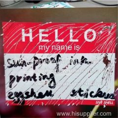 Custom hello my name is uv-resistant vinyl-eggshell-stickers