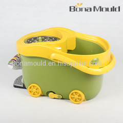 plastic magic mop with wheel mould/mold