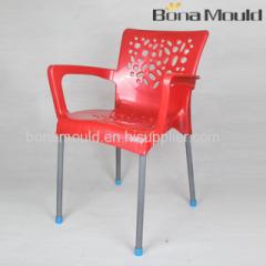 plastic aluminium leg chair mould