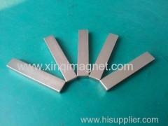 Block magnet N45SH Nickle coated used in moto