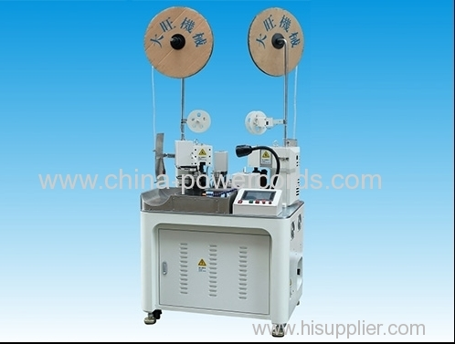 Full automatic dual side terminal crimping machine
