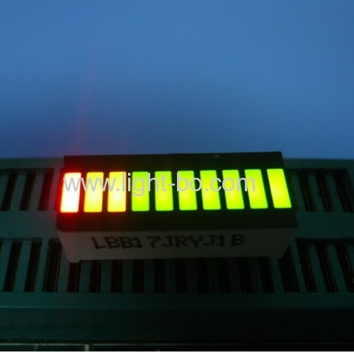 Super Bright Green/Red 10 Segment LED Light Bar Gradh Array for instrument panel