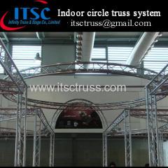 Indoor decorative aluminum circle truss system