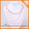 Lastest Fashion Long Chain Pink Pearl Necklace