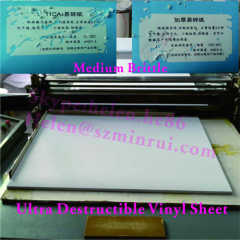 High Quality Medium Brittle Grade UDV Destructible Material in Sheet with Good Die Cut Effect