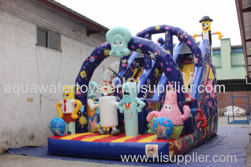 Spongebob Inflatable Glorious Slide