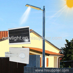 Integrated solar light for street and garden