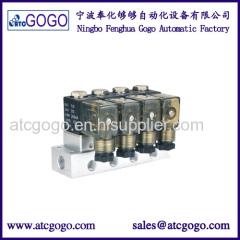 Rc1/4 port VU4-ACCUAIR 4 corner solenoid valve unit Air suspension valve block With E-level for Modified cars