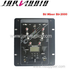 pro 2channel dj mixer with MP3