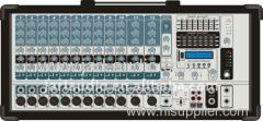 Professional 12 Channel Cabinet Power Mixer
