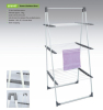 Powder Coating Laundry Steel Clothes Drying Rack Free Standing