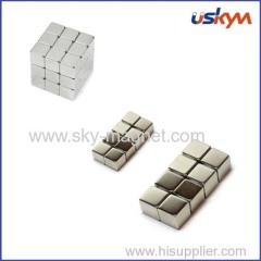 Nickel plating cube magnet with cheap price