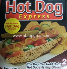 Microwave hot dog cooker hot dog cooking bag