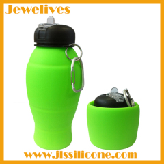 Leak proof silicone collapsible bottle