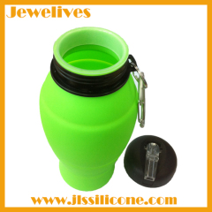 BPA FREE silicone water bottle collapsible