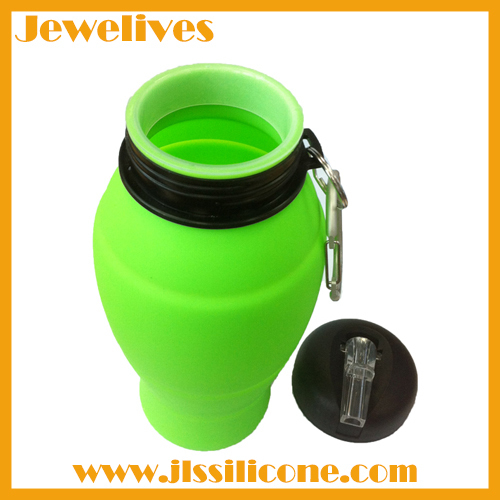 Not aging silicone sport water bottle
