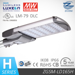 165W UL Listed LED Road Ligh with 1-10V DC or PWM Signal or Resistance Dimming