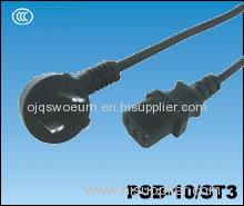 China Computer Power Cord Plug PSB-10/ST3