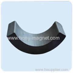 Big bonded arc neodymium magnet