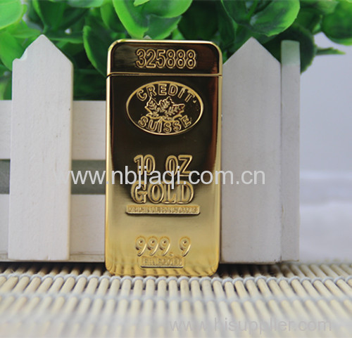 HB - 813 gold bar USB environmental protection electronic pulse arc charging cigarette lighter lighter