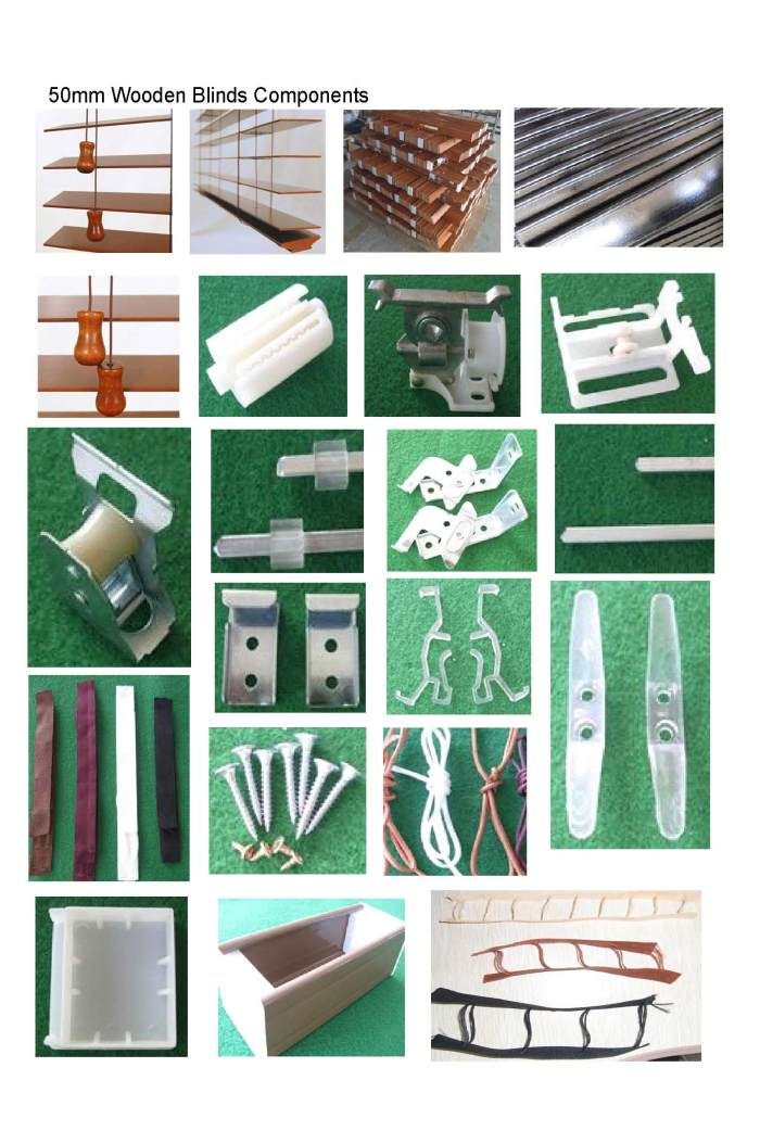 35mm 15 Wood Blinds Accessaries With Cord Tilt Mechanism From