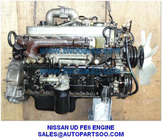 USED NISSAN UD FE6 ENGINE FE6T ENGINE FOR SALE from China