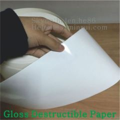 High Quality Glossy Finish Ultra Destructible Viny Roll or Sheet