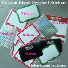 Customized Blanks Egg Shell Stickers
