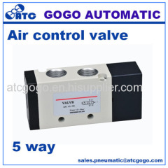 5 way air control pneumatic valve M5 1/8 1/4 3/8 1/2 thread BSP NPT