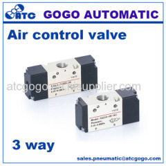 mini air flow control valve 3 way pneumatic valves M5 1/8 1/4 3/8 1/2 thread BSP NPT