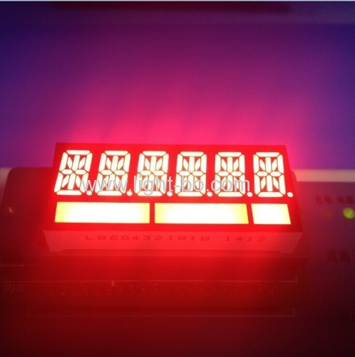 OEM / ODM  ultra red 6 digit alphanumerc led display 11mm for Taximeter