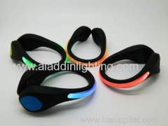 LED shoe cuffs safety warning clip