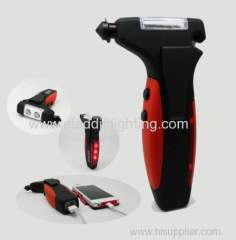 Newest emergency hammer with power bank LED flashlight
