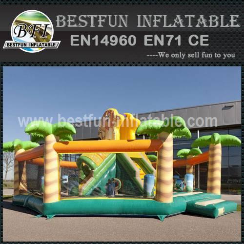 Advertising inflatable bouncy slide
