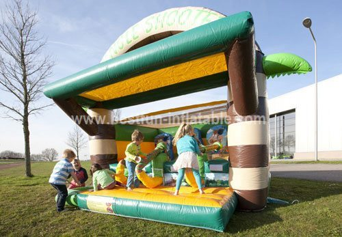 Inflatable tent jungle shooter