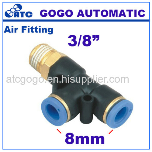 PC Series Pneumatic pipe brass fitting 8mm air hose connector 1/4 1/8 3/8 1/2 joint