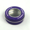 round mint tin case with clear lid window