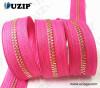 light gold Long Chain Zipper