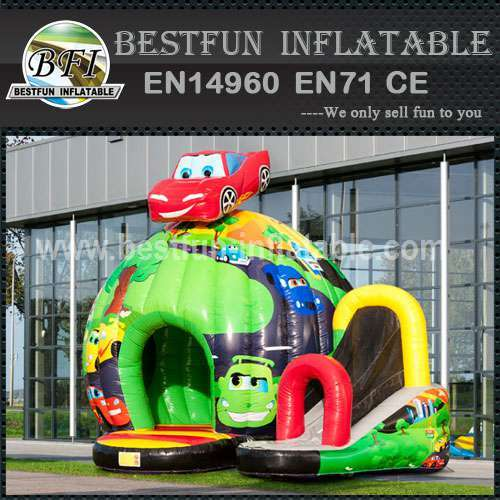 Children inflatable bouncy slide