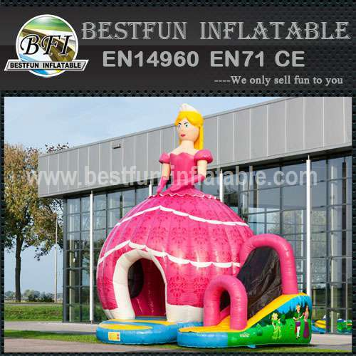 Cartoon inflatable bouncy slide