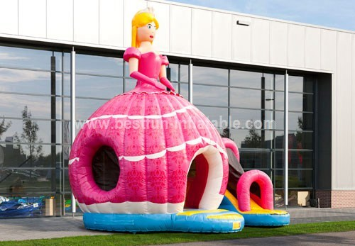 Disco Fun Princess bouncy castle