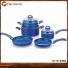 Kitchen Fry pan Sauce pan Ceramic marble Pan Set