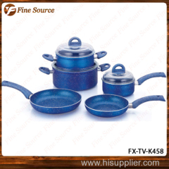 Kitchen Item Ceramic marble Pan Set Fry pan Sauce pan set