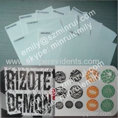 Custom A4 Size Self Destructive Label Paper eggshell sticker papers in Sheets From Minrui China