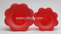 colorful plastic shaved ice cups flower shape