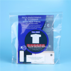 Custom Stand up Self Adhesive Plastic Packaging Bag for Shirt