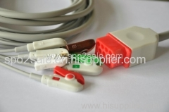 Compatible with Bionet one piece Cable with 5-lead IEC Clip leadwires