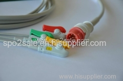 Compatible with Bionet BM3 one piece Cable with 3-lead IEC clip leadwires