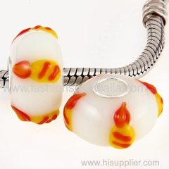 Handmade Christmas Candle Glass Beads in 925 Silver Core Best Sell